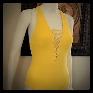 Yellow Michael Kors Swimsuit